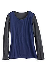 Fair Indigo Long Sleeve Reversible Organic Fair Trade T-shirt