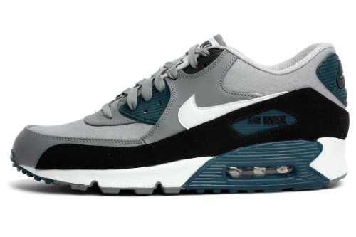 newest 6f79d 28130 Nike Air Max 90 Premium Mens Running Shoes 333888-030 Wolf Grey 9 M US