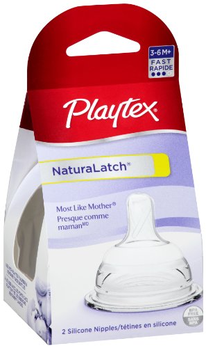 Playtex Naturalatchnipple, Fast Flow, 2-Count front-991004