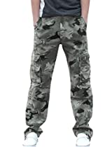 Mens Classic Camo Printed Casual Cargo Pants