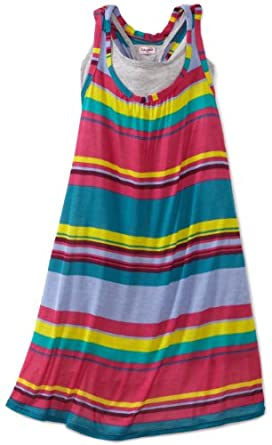 Splendid Girls 7-16 Stripe Racerback Dress, Canyon/Horizon, 14