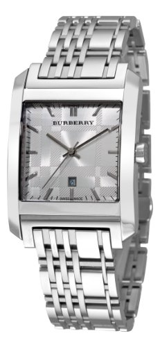 Burberry Men's BU1567 Square Silver Dial Bracelet Watch