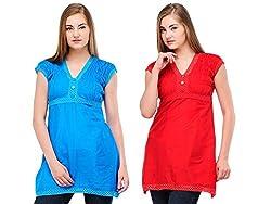 NIROSHA Cotton Solid Kurti for Women