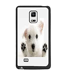 PrintDhaba Puppy D-2228 Back Case Cover for SAMSUNG GALAXY NOTE 4 (Multi-Coloured)