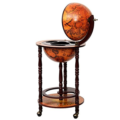 Wine Cabinets Wood Globe Wine Bar Stand 36