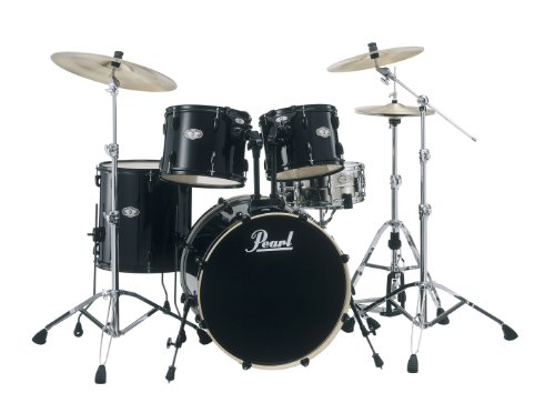Pearl Vision Vx825P/B31 Shell Pack, Jet Black (Cymbals And Hardware Not Included)