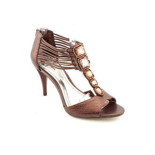 Style & Co Nathalie Womens Size 7.5 Bronze Open Toe Dress Sandals Shoes front-1058457