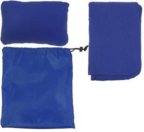 Simplicity Snooze Travel Comfort Set, Fleece Blanket & Pillow, Royal front-994189