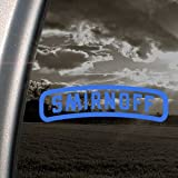 Smirnoff Blue Decal Vintage Car Truck Bumper Window Blue Sticker