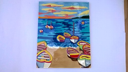 "11"" X 14"" Wall Plaque, Sail Boats on the Ocean"