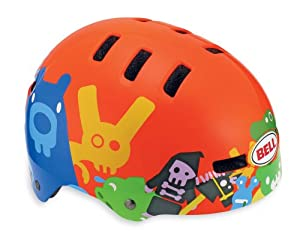 Bell Fraction Youth Bicycle Helmet, Neon Orange Critters, Small