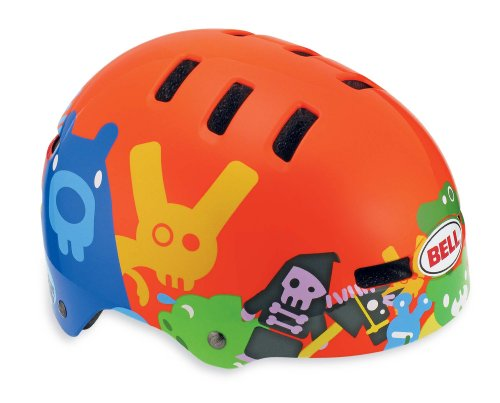 Bell Fraction Youth Bicycle Helmet, Neon Orange Critters, X-Small
