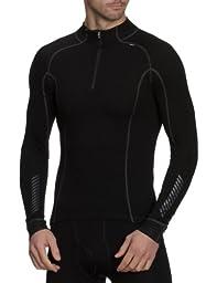Helly Hansen Men\'s Freeze 1/2 Zip Turtleneck Shirt, Black, X-Large