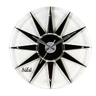 Safal Wooden Wall Clock (40.64 cm x 40.64 cm, Black, SQ 1023)