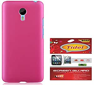 Tidel Pink Ultrathin Matte Finish Rubbrised Back Cover For Meizu M2 Note With Tidel SCREEN GUARD