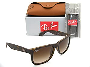 Ray-Ban Justin RB 4165 710/13 55mm Rubber Light Havana Brown Gradient in Box