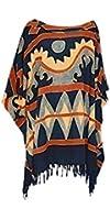 ETHNIC boho tribal Ladies Urban Top Beach Poncho Blouse Cover Gypsy kaftan Shirt