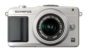 Olympus PEN E-PM2 Systemkamera (16 Megapixel, 7,6 cm (3 Zoll) Touchscreen, bildstabilisiert) Kit inkl. 14-42mm Objektiv silber