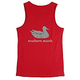 Southern Marsh Authentic Tank Crimson / Black Medium