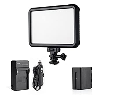 PT-12B Ultra-Thin Bi-Color Dimmable Led Video Light Panel with Touch Switch Camera Camcorder Video Light for Children Child Baby Photography for Canon Nikon Pentax Olympus Samsung Panasonic JVC DSLR Cameras DV Camcorders