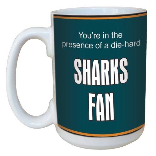 Tree-Free Greetings Lm44192 Sharks Hockey Fan Ceramic Mug With Full-Sized Handle, 15-Ounce