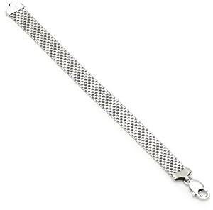 Sterling Silver 12mm Italian Mesh Bracelet, 7.5