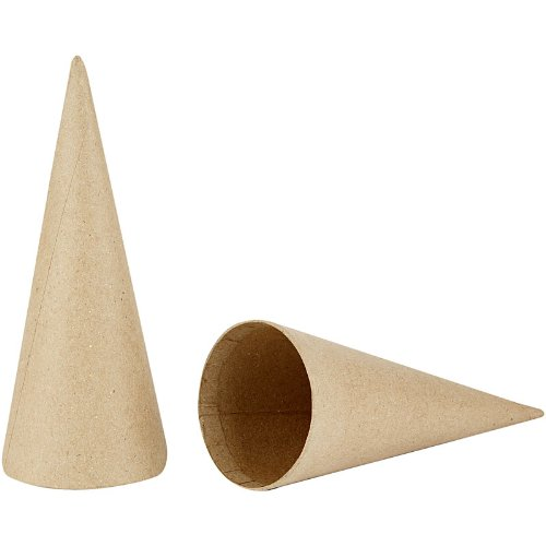 creativ-5-piece-20-cm-papier-mache-cones