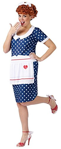 [Sassy Lucy Costume - Plus Size 1X/2X - Dress Size 16-20] (Lucille Ball Costumes For Halloween)