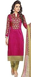 pakiza design new pink gorgeous chanderi cotton festival party wear salwar suit dress material