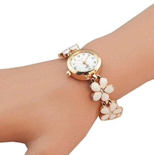 Sannysis® Moda Daisies fiore in oro rosa braccialetto regalo delle donne orologio da polso