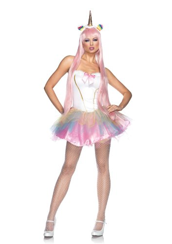 Leg-Avenue-Costume-3-Pieces-Licorne-Fantaisie-Blanc-X-Small