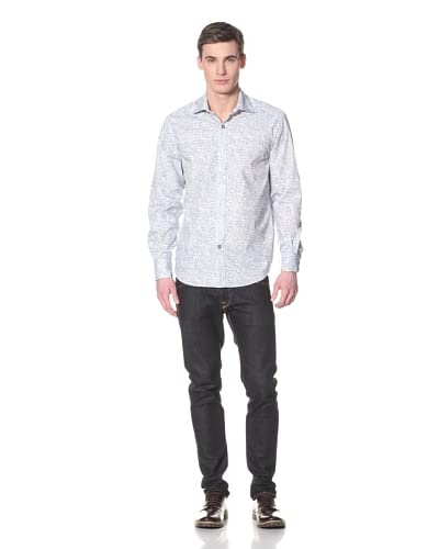 J.Campbell Los Angeles Men's Bodmore Long Sleeve Woven Shirt  [Blue]