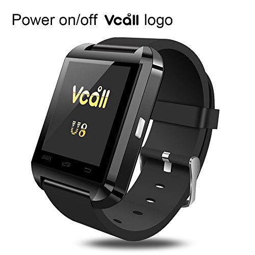VCALL New U8 Bluetooth Smartwatch Smart Watch Wristwatch Long Battery Life Phone Mate for Samsung Huawei  Android Smart Cell Phones - Black