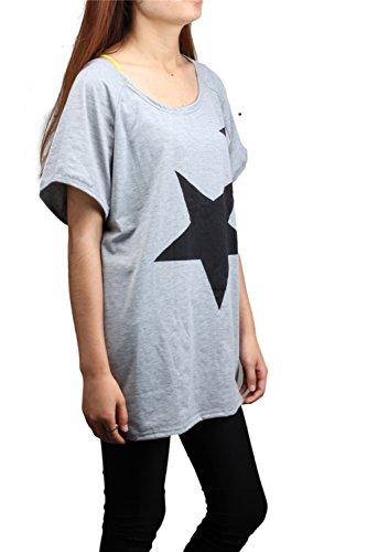 LATH.PIN -  T-shirt - Tunica - Maniche corte  - Donna grigio Small