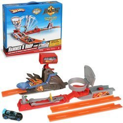 Hot Wheels Trick Tracks Hammer and Hoop by Mattel