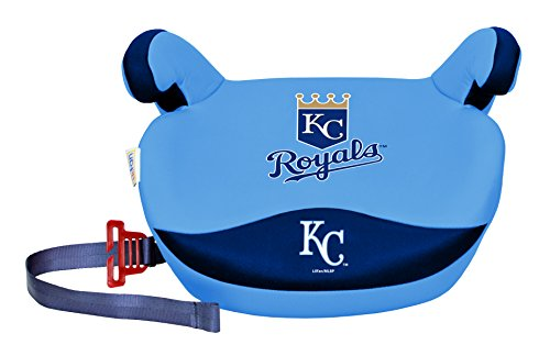 MLB Kansas City Royals Slimline No Back Booster Seat, 30-110-Pound, Multi
