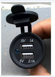 Marine Dual USB Charger Car Boat Dc Socket  Two