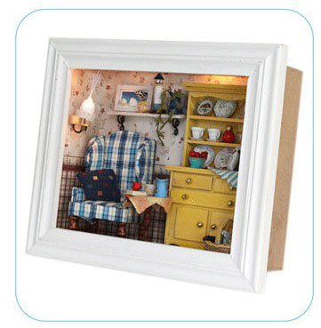 Big Dollhouse Miniature Diy Wood Frame Kit With Light Model Sweet Promise Gift Ldollhouse38-D85
