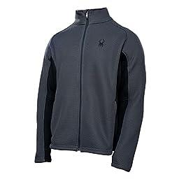 Spyder Men\'s Foremost Full Zip Jacket, Slate, Large