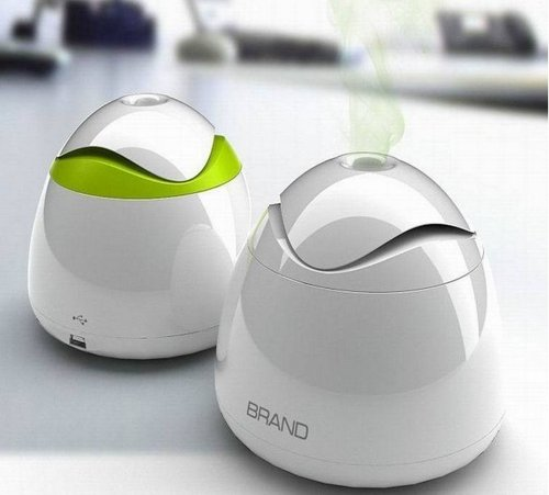Usb Mini Usb Humidifier Humidifier Office Mute Usb Mini Humidifier (White+Green)
