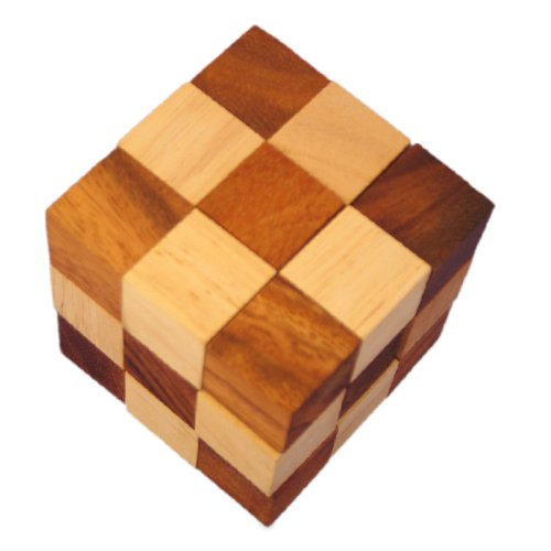 Snake Cube Wooden Puzzle - FindGift.com