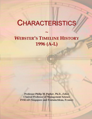 Characteristics: Webster's Timeline History, 1996 (A-L)