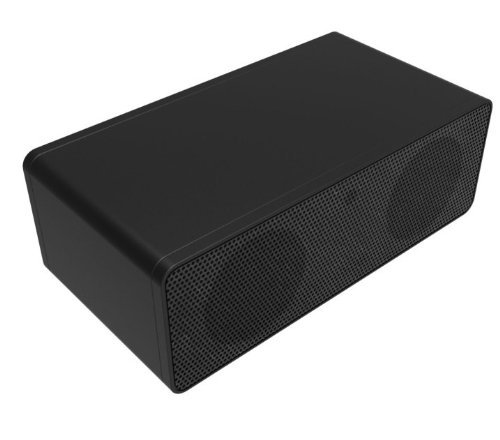 Ecsem® Portable Mini Wireless Magic Iphone Speakers Mutual Electromagnetic Induction Amplifier Speakers For Iphone 5 4S Htc Samsung And All Other Phones & Digital Media Device, Built-In Lithium Polymer Battery Gives Up To 30 Hours Of Play Time (Black)