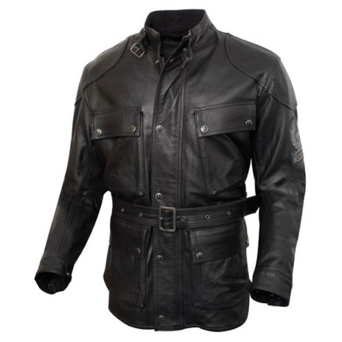 Belstaff Trialmaster jacket black aged leather - S