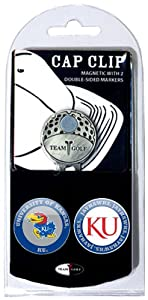 Buy NCAA Kansas Jayhawks 2 Marker Golf Cap Clip by Team Golf