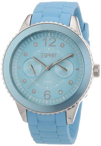 Esprit A.ES105332003 - Reloj analógico de cuarzo para mujer con correa de silicona, color verde