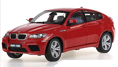 Tourwin Toy car 1:18 BMW X6 M Super SUV simulation red static car model collection decoration alloy children's toys 6 doors can open