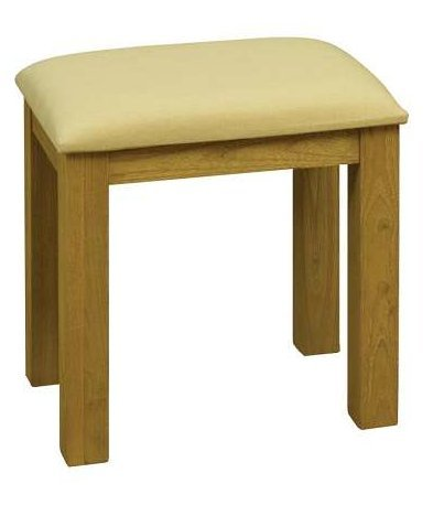 FOSTERLEY TRADITIONAL OAK WOOD DRESSING TABLE STOOL ** FULL RANGE OF MATCHING FURNITURE IS AVAILABLE **