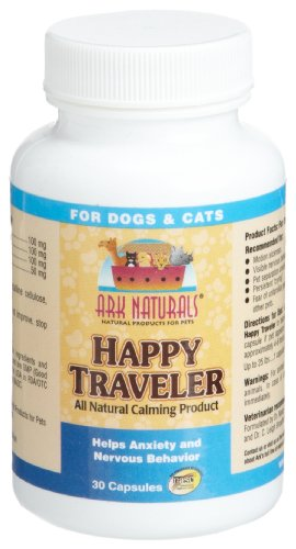 Ark Naturals Happy Traveler for Dogs & Cats, 30-Count Capsules (Pack of 3)