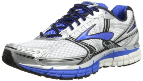 Brooks Mens Adrenaline GTS 14 2E Running Shoes 1101582E177 White/Electric/Silver 11 UK, 46 EU, 12 US Wide